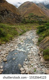 Urubamba river, Aguas Calientes/Peru. way to Machu Picchu