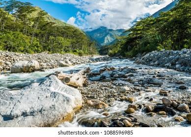 Urubamba River in Santa Teresa Peru
