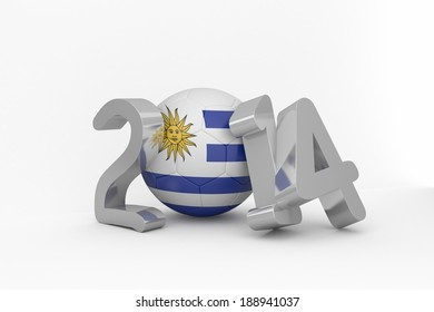 Uruguay  2014 on white background