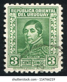 URUGUAY - CIRCA 1934: stamp printed by Uruguay, shows General Rivera, circa 1934