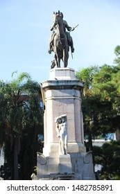 URUGUAY, MONTEVIDEO - FEBRUARY 10, 2015: Visit to the main historical monuments of the city of Montevideo in Uruguay.