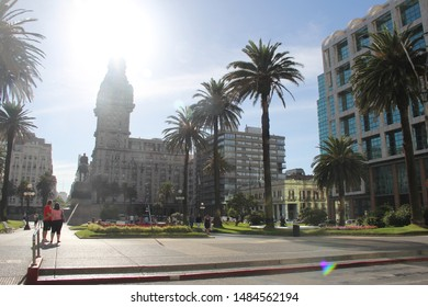 URUGUAY, MONTEVIDEO - FEBRUARY 10, 2015: Visit to the main historical monuments of the city of Montevideo in Uruguay