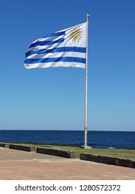 Uruguayan flag flying