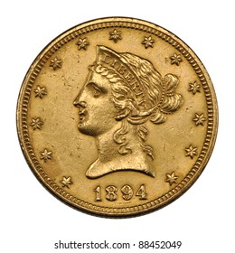 US 10 dollar - reverse Eagle gold coin 1894
