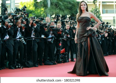 US actress Angelina Jolie poses on the red carpet before the screening of 'The Tree of Life' presented in competition at the 64th Cannes Film Festival on May 16, 2011 in Cannes.