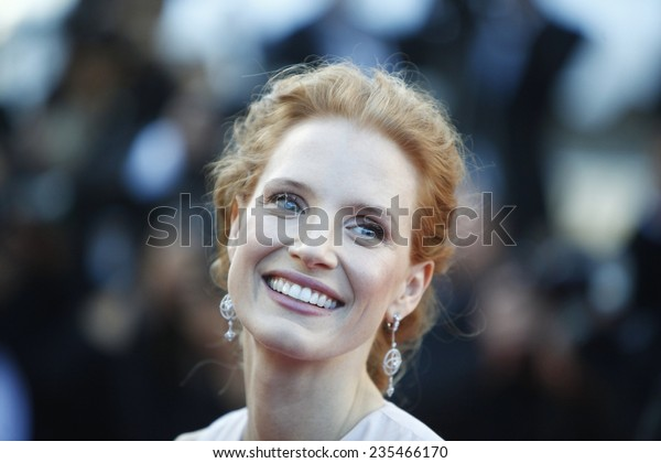 US actress Jessica Chastain arrives for the screening of 'Moonrise Kingdom' and the opening ceremony of the 65th Cannes film festival on May 16, 2012 in Cannes, France