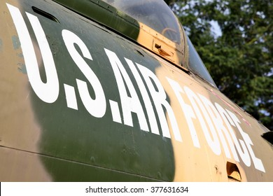 US Air Force marking on the side of aircraft