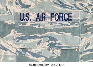 US air force tigerstripe digital camouflage uniform with badge
