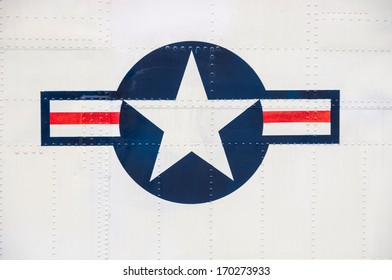 US airforce symbol on a plane