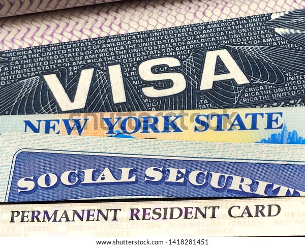 Us American Visa On Passport Driver Stock Photo (Edit Now