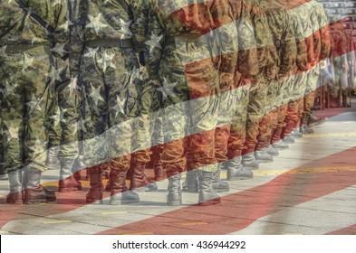 U.S Army with flag