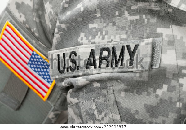 Us Army Flag Patch On Solders Stock Photo (Edit Now) 252903877