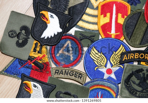 Us Army Navy Air Force Patches Stock Photo (Edit Now) 1391269805