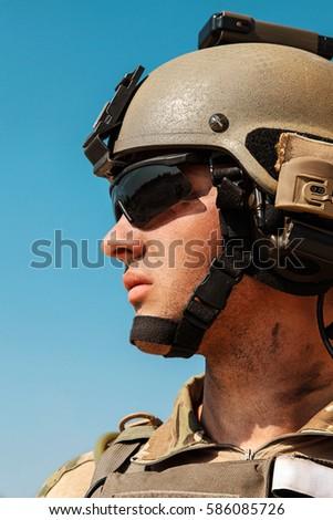 us army ranger weapons desert beneath stock photo edit now