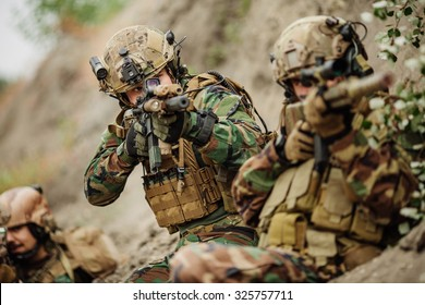 U.S. Army rangers during the military operation