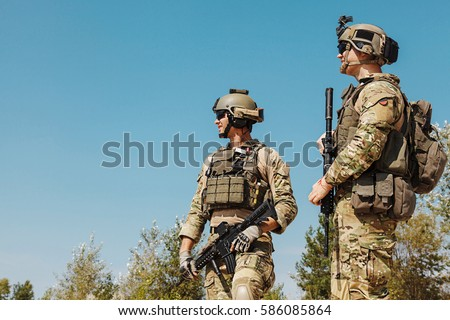 us army rangers weapons desert plate stock photo edit now