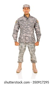 US army soldier on white background