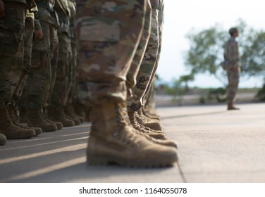 U.S. Army Soldiers standing in formation