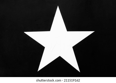 US Army Star Black and White