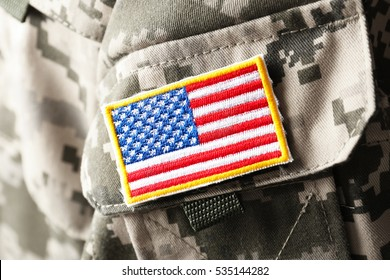 U.S. army uniform, closeup