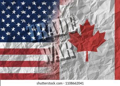 US and Canada trade war
