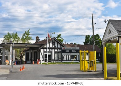 The US and Canadian customs stations are almost side-by-side in the tiny Vermont village of Beebe Plain.