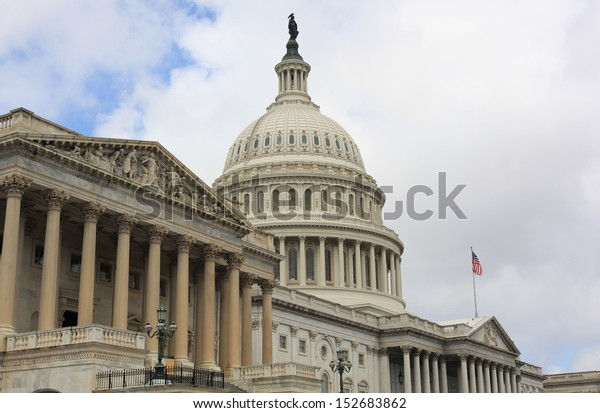 US Capital Building dome in Washington DC United States