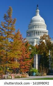 U.S. Capitol in Autumn - Washington DC United States