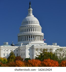 US Capitol in Autumn - Washington DC, United States