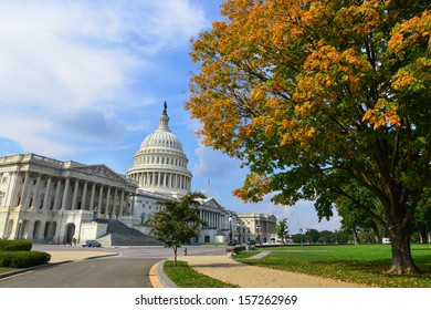 US Capitol Building in Autumn - Washington DC, United States