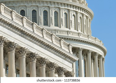 US Capitol Building dome detail - Washington DC United States