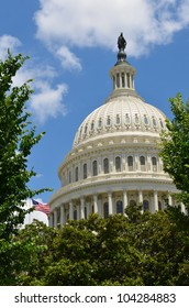 US Capitol Building dome  in Washington DC United States