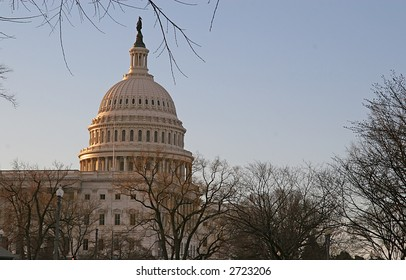 U.S. Capitol building in early morning light