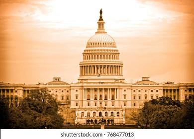 US Capitol building - Washington DC -SEPHIA