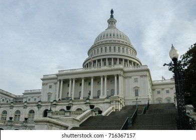 US Capitol Building in Winter - Washington DC United States