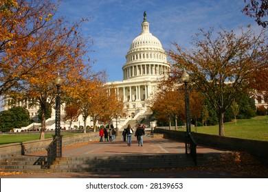 U.S. Capitol in the fall