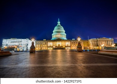 US Capitol North Side Congress House Representatives Construction Senate Capital City Night Stars Washington DC