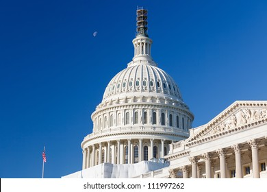 US Capitol over blue sky, Washington DC