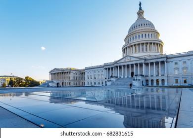 US Capitol with reflection, Washington DC