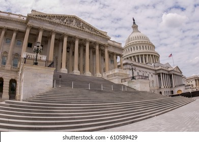 U.S. Capitol Steps -- East Front, Wide Angle