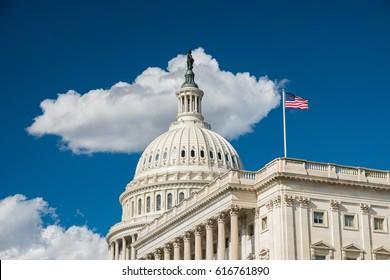 U.S. Capitol -- Sun and Clouds