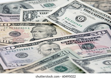 US cash - currency, dollar bills