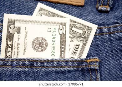 U.S. cash in pocket