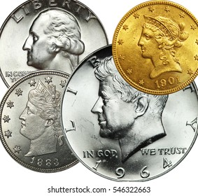 US Coins Graphic Image