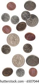 us crrency shot as if falling