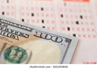 US currency with lottery