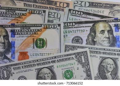 Us dollar banknote background