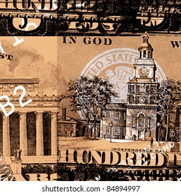 US dollar with text for background