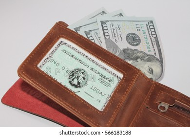 us dollar in the wallet