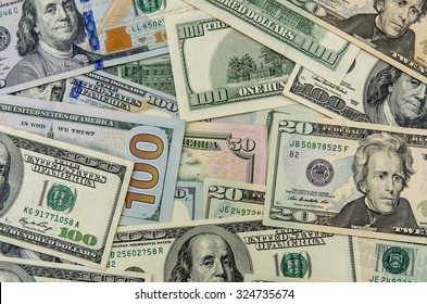 US dollars as background